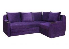 Угловой диван Дельта-микро фиолетовый
