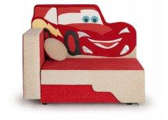 Детский диван-игрушка Машинка молния описание, фото, выбор ткани или обивки, цены, характеристики