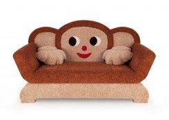Детский диван Чебурашка описание, фото, выбор ткани или обивки, цены, характеристики
