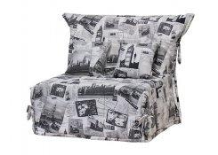Кресло-кровать Флора серое
