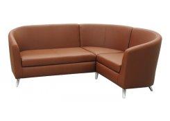 Модульный угловой диван Алекто коричневый