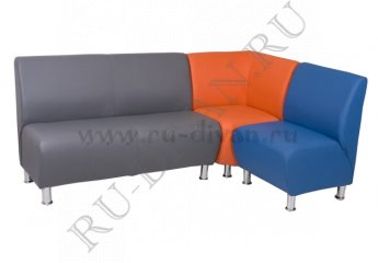 Угловой диван Блюз 10-08 модульный фото 1 цвета: серый, оранжевый