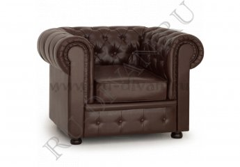 Кресло Честер – доставка фото 1 цвет коричневый