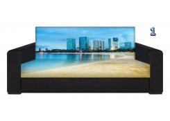 Диван с фотопринтом Майами описание, фото, выбор ткани или обивки, цены, характеристики