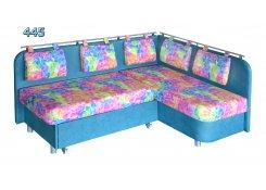 Голубой угловой диван