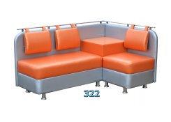 Оранжевый угловой диван