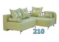 Угловой диван Мальта зелёный