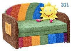 Детский диван-игрушка Димочка-радуга описание, фото, выбор ткани или обивки, цены, характеристики