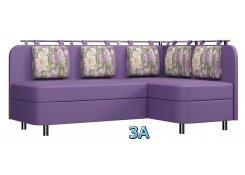 Угловой диван Лагуна М2 фиолетовый