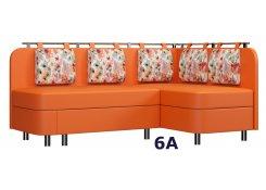 Угловой диван Лагуна М2(Оранжевый)