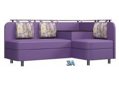 Угловой диван Лагуна М3 фиолетовый