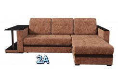 Угловой диван Атланта со столиком коричневый