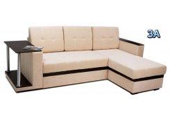 Угловой диван Атланта со столиком бежевый