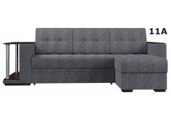 Угловой диван Атланта со столиком серый