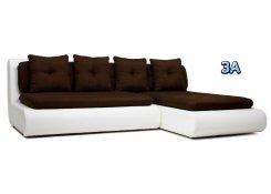 Угловой диван Кормак коричневый