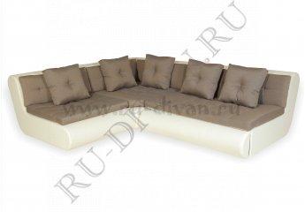 Угловой диван Кормак модульный фото 1 цвет коричневый