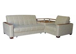 Угловой диван Аккорд-3 серый