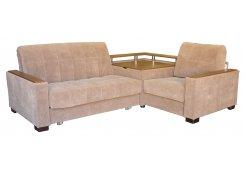 Угловой диван Аккорд-3 коричневый