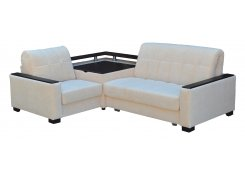 Угловой диван Аккорд-3 (Белый)
