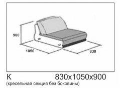 Модуль кресло Сен-Тропе без подлокотников описание, фото, выбор ткани или обивки, цены, характеристики