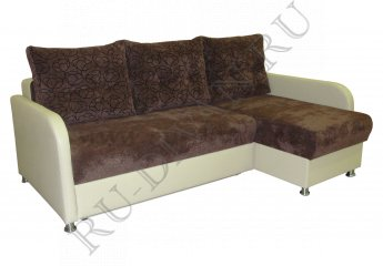Угловой диван Премьер-3 фото 1 цвет коричневый