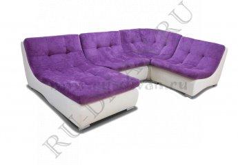 Диван Монреаль 408 модульный фото 1 цвета: фиолетовый, белый