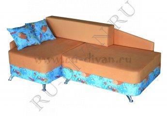 Угловой диван Беби фото 1 цвета: оранжевый, голубой