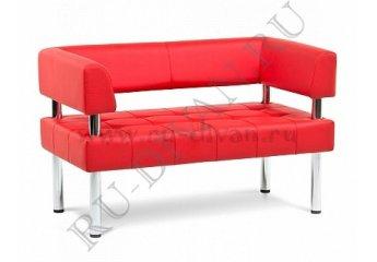 Диван Бизнес двухместный фото 1 цвет красный