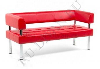 Диван Бизнес трехместный фото 1 цвет красный