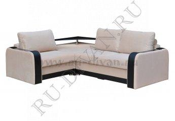 Угловой диван Амадей с полкой – характеристики фото 1 цвета: бежевый, черный