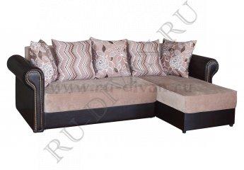 Угловой диван Букингем фото 1 цвет коричневый