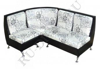 Угловой диван Беседа 2 для кухни фото 1 цвет черный