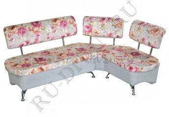 Угловой диван Беседа для кухни фото 1 цвета: розовый, серый