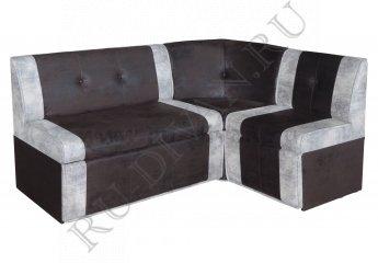 Угловой диван Камиль для кухни фото 1 цвет черный