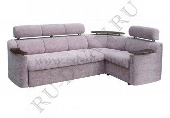 Угловой диван Лючиана с полкой цвет фиолетовый