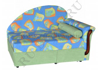 Диван Малыш-поло детский фото 1 цвета: голубой, зеленый
