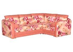 Угловой диван Альвис (Розовый)