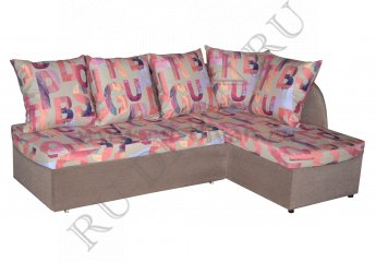 Угловой диван Арина – доставка фото 1 цвета: коричневый, розовый