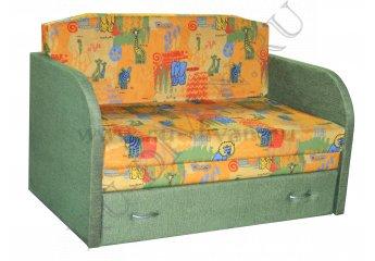 Диван Юлечка детский – доставка фото 1 цвета: зеленый, оранжевый