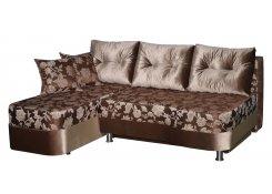 Угловой диван Юнона (Коричневый)