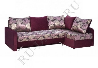 Угловой диван Брисия – отзывы покупателей фото 1 цвета: красный, фиолетовый