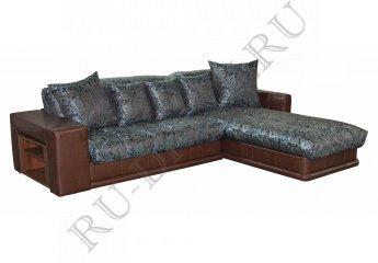 Угловой диван Максимус – доставка фото 1 цвета: голубой, коричневый