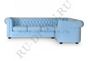 Диван Честер модульный фото 1 цвет голубой