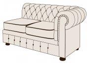 Двухместный диван Честер с одним подлокотником