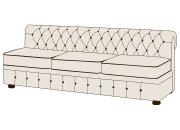Трехместный диван Честер без подлокотников