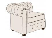 Модуль кресло Честер с одним подлокотником