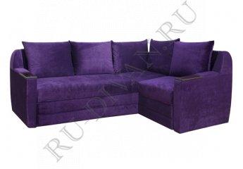 Угловой диван Дельта-микро – доставка фото 1 цвет фиолетовый