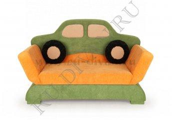 Диван Авто детский – характеристики фото 1 цвета: оранжевый, зеленый