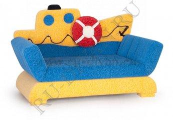 Диван Кораблик детский – характеристики фото 1 цвет синий