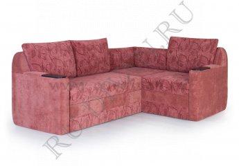 Угловой диван Альфа-микро фото 1 цвет бордовый